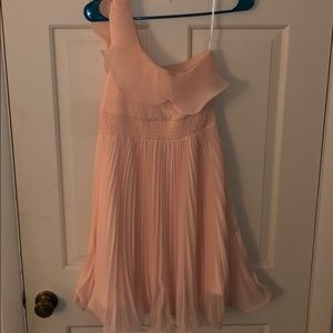 Forever 21 pink ruffle dress